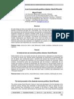 Miguel Teubal La Renta de La Tierra en La Economia Política Clásica David Ricardo