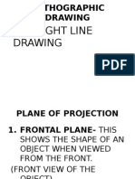 plane of projection