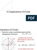 4 5 applications of circles notes