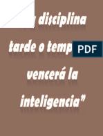 La Disciplina Tarde o Temprano Vencerá La Inteligencia