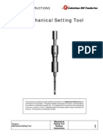 Mechanical Setting Tool Redress Instructions