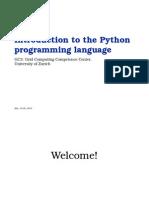 Python Training Part 1