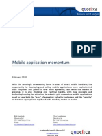 Mobile application momentum