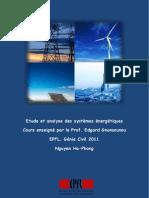 Etude et analyse des systèmes énergétique