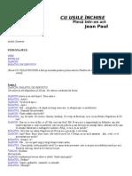 3023634 Jean Paul Sartre Cu Usile Inchise