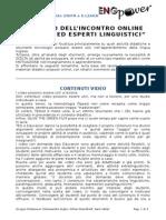 Rapporto Incontro Online Cel Cc