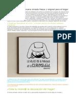 Vinilos Online, Una Nueva Mirada Fresca y Original Para El Hogar