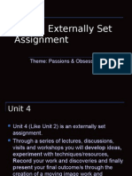 A2 Unit 4 Presentation Passions and Obsessions