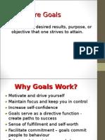 Why Goal Setting