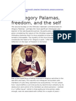 St. Gregory Palama, Freedom and the Self