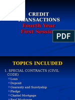 Credit Transactions - 1st Meeting - Loan and Deposit - 4th Yr