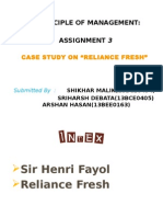 CASE STUDY ON RELIANCE FRESH