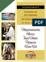 Buku Misa dan Pesan Paus di hari Komunikasi Sedunia ke-49 tgl. 17 Mei 2015