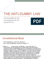 The Anti-Dummy Law