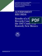 Roswell Crash 1947 GAO Report