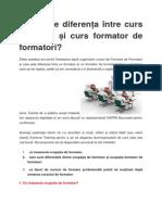 Care Este Diferența Între Curs Formator Si Curs Formator de Formatori