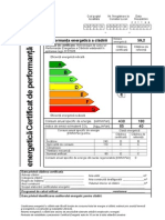 Certificat de perormanta energetica
