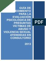 Guia de procedimiento del abuso sexual