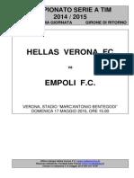 Hellas Verona-Empoli - 36 Giornata Serie A