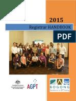 Registrar Handbook 2015