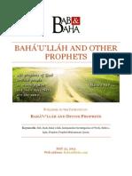 Bahá'u'lláh and Other Prophets