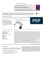 Intermingled Fractal Units Model and Electrical Equivalence Fractal Approach for Prediction of Thermal Conductivity of Porous Materials
