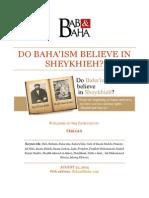 Do Baha'ism Believe in Sheykhieh?