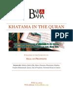 Khatama in the Quran