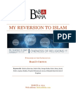 My Reversion to Islam