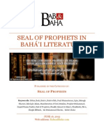 Seal of Prophets in Bahá'i Literature