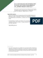 TIC y Desarrollo Oportunidad o Amenaza