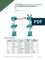 6.2.2.5 Lab - Configuracion de Rutas Estaticas y Predeterminadas IPv4