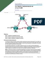 6.3.3.7 Lab - Diseno e Implementacion de Direccionamiento IPv4 Con VLSM