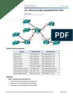 6.4.2.5 Lab - Calculo de Resumen de Rutas Con IPv4 e IPv6