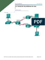 6.5.2.5 Lab - Solucion de Problemas Con Rutas Estaticas IPv4 e IPv6