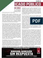 Comunicado Juventud Rebelde Chile