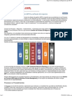 Business Process Management (BPM) y Software de Negocios