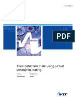 Flaw Detection Trials Using Virtual Ultrasonic Testing