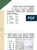 Soal Un Fisika 2013