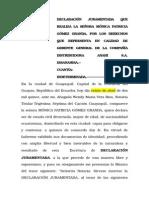 Declaracion Juramentada Consignación Liquidación