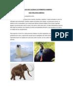 ANIMALES QUE CAZABAN LOS PRIMEROS HOMBRES.docx