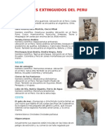 Animales Extinguidos Del Peru