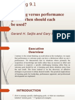 Learning Versus Performance Goals