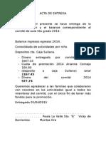Acta de Entrega 2015
