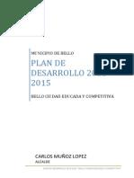 Plan de Desarrollo 2012-2015 bello