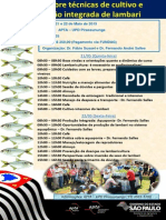 Cartaz Técnicas de Cultivo Lambari 2015