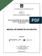 Manual de Diseño de Ciclorutas Idu