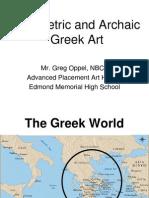 Geometric Archaic Greece Part 1
