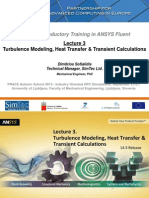 Fluent-Intro 14.5 L03 Turbulence&HeatTransfer&Transient