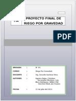 Ingenieria de Riego Por Gravedad - Fia Unprg Proyecto Final
